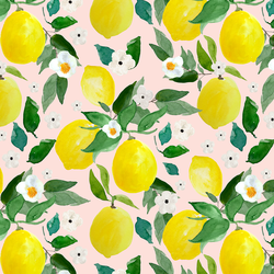 Large Lemons in Sunrise Pink