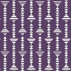 Little Tribal Stripe in Aubergine