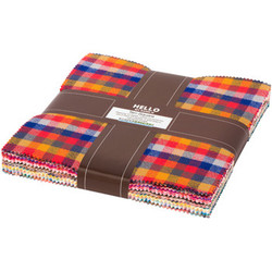 """Mammoth Junior Flannel 10"""" Charm Pack in Warm"""