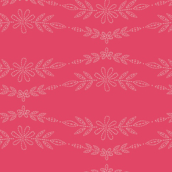 Embroidered Garland in Rose