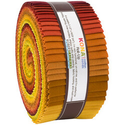 """Kona Solid 2.5"""" Strip Roll in Autumn Hues"""