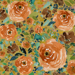 Copper Roses in Gold Glow