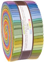 """Kona Solid 2.5"""" Strip Roll in Dusty"""