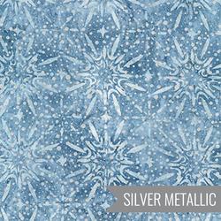 Shimmering Snowflake in Dusty Blue