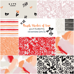 Brush Strokes of Love Fat Quarter Bundle