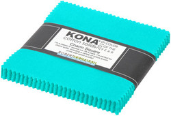 """Kona Solid 5"""" Square Pack in Splash (2019 Color of the Year)"""