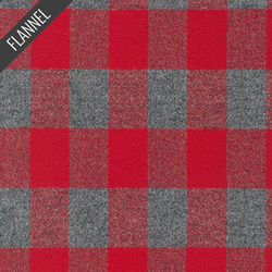 Mammoth Rectangle Plaid Flannel in Red