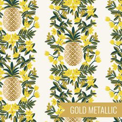 Pineapple Stripe in Cream Metallic