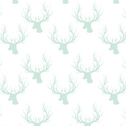 Little Deer Silhouette in Light Green