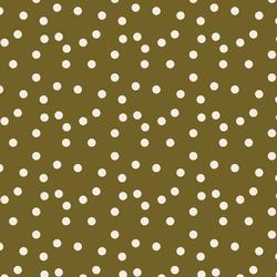 Polka Dot in Cream on Olive