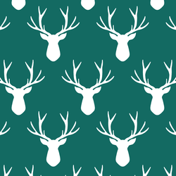 Stag Silhouette in Emerald