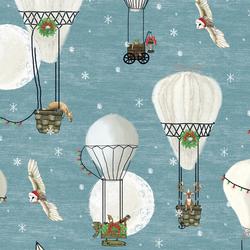 Large Christmas Balloon Ride in Winter Twilight