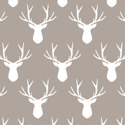 Stag Silhouette in Taupe
