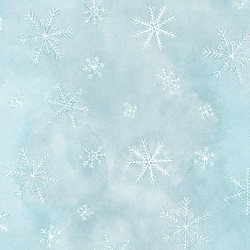 Snowflake in Ice Blue