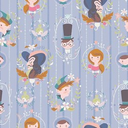 Neverland Darling Wall in Periwinkle