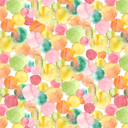 Watercolor Dots in Tropical