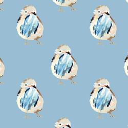 Spring Birdie in Serene Blue