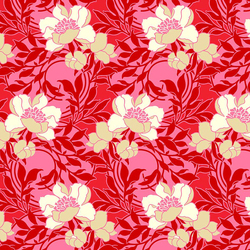 Floral Kisses in Red