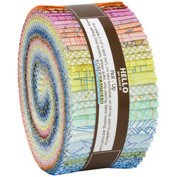 """Collection CF 2.5"""" Strip Roll in Colorful"""