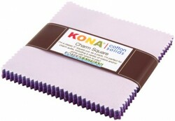 Kona Cotton Solids Charm Squares in Lavender Fields