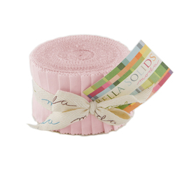 Bella Solids Junior Jelly Roll in Sisters Pink