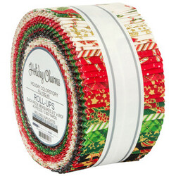 """Holiday Charms 2.5"""" Strip Roll in 2021 Holiday Colorstory"""
