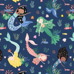 Mermaids and Friends in Deep Ocean