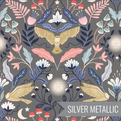 Enchanted Owl in Dark Grey Metallic