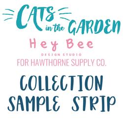 Cats in the Garden Sample Strip