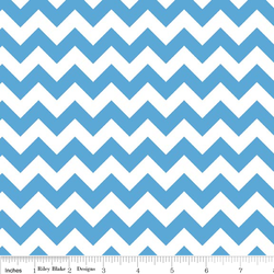 Small Chevron in Blue