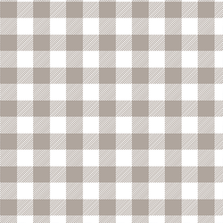 Medium Buffalo Plaid in Taupe
