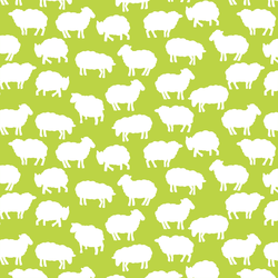 Sheep Silhouette in Lime