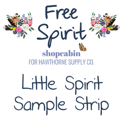 Free Spirit - Little Spirit Grouping Sample Strip