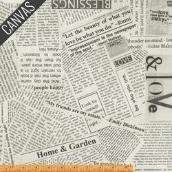 Newsprint Canvas in Spackle