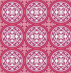 Scrollwork in Deep Pink