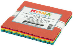 """Kona Solid 5"""" Square Pack in Paintbox Basics Coordinates"""