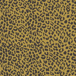 Leopard in Autumn Brown on Gold Glow