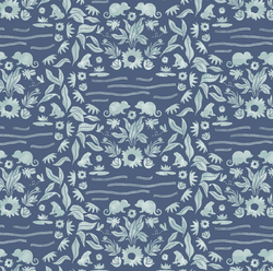 Moonlit Damask in Midnight