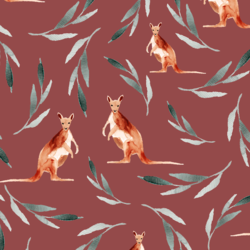 Big Kangaroos in Red Clay