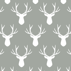 Stag Silhouette in Sage