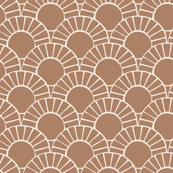 Large Mosaic Sun Tile in Maple Brown