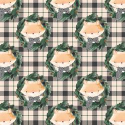 Little Fox on Tartan Plaid in Sweet