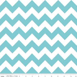 Medium Chevron in Aqua