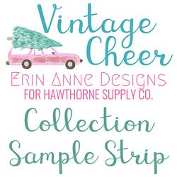 Vintage Cheer Sample Strip