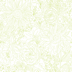 Paperie in Lime on White