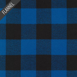 Mammoth Large Two Check Plaid Flannel in Blue
