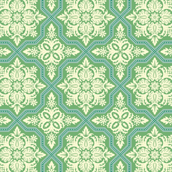 Tile Flourish in Green Tea