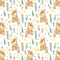 Little Bunny Girl in Spring