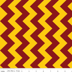 Medium Chevron in Maroon and Gold