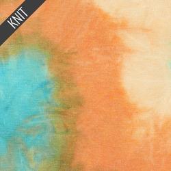 Painter's Tie Dye in Turquoise Beige & Rust